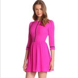 Dolce Vita Ives Posies Hot Pink Silk Dress